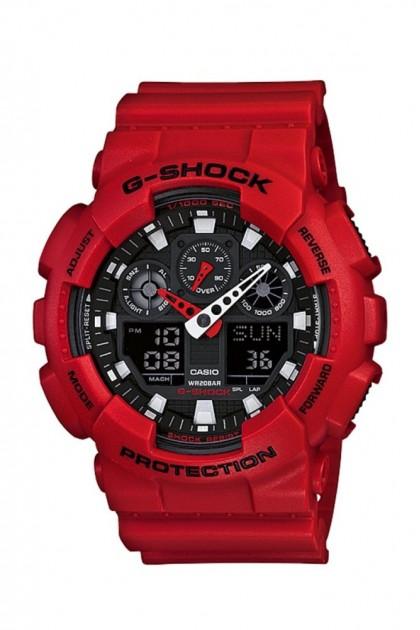 Casio G-Shock GA-100B-4ADR Standard ANALOG DIGITAL Men's Watch GA-100B-4AD / GA-100B-4A / GA-100B-4 / GA100B