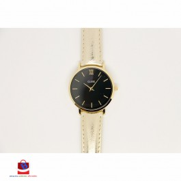 CL30037 Cluse Minuit Gold Black Gold Metallic Ladies Watch