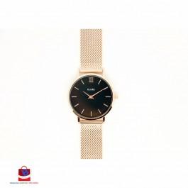 CL30016 Cluse Minuit Mesh Rose Gold/Black Ladies Watch