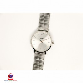 CL30023 Cluse Minuit Mesh Full Silver Ladies Watch