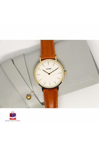 CL18409 Cluse La Bohème Gold White/Caramel