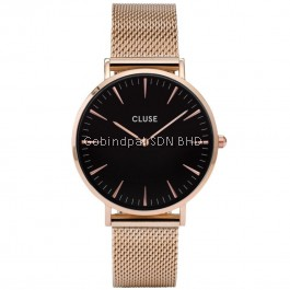CL18113 Cluse La Bohème Mesh Rose Gold/Black Ladies Watch
