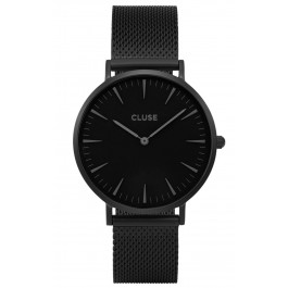 CL18111 Cluse La Bohème Mesh Full Black Ladies Watch