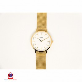 CL18109 Cluse La Bohème Mesh Gold White Ladies Watch