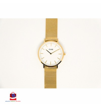 CL18109 Cluse La Bohème Mesh Gold White Ladies Watch