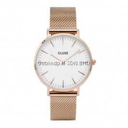 CL18112 Cluse La Bohème Mesh Rose Gold/White Ladies Watch