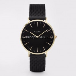 CL18117 Cluse La Bohème Mesh Gold All Black Ladies Watch