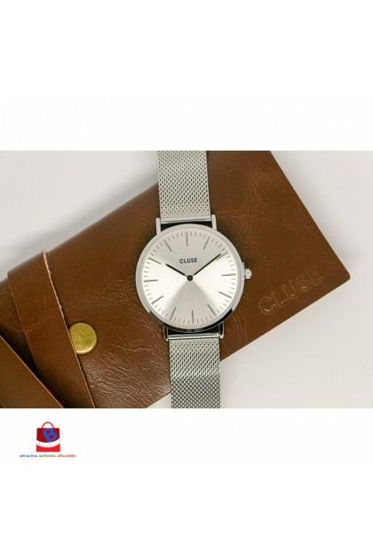 CL18114 Cluse La Bohème Mesh Full Silver Ladies Watch