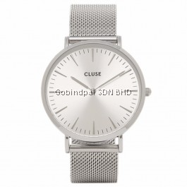 CL18114 Cluse La Bohème Mesh Full Silver Ladies Watch