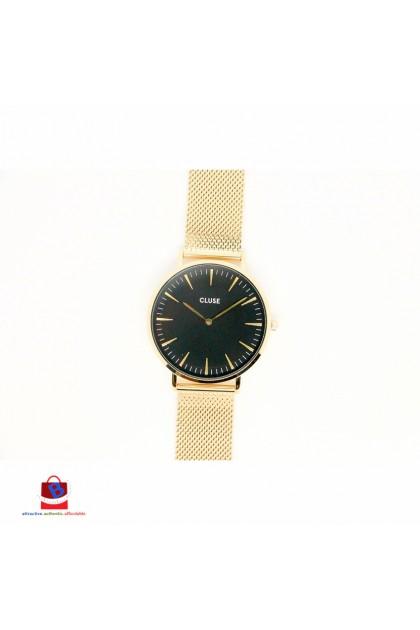 CL18110 Cluse La Bohème Mesh Gold/Black Ladies Watch