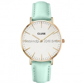 CL18021 Cluse La Bohème Rose Gold White Pastel Mint Ladies Watch