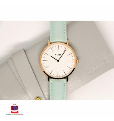 CL18021 Cluse La Bohème Rose Gold White Pastel Mint Ladies Watch