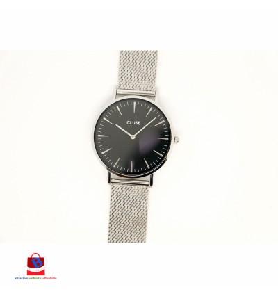CL18106 Cluse La Bohème Mesh Silver Black Ladies Watch