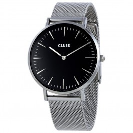 CL18106 Cluse La Bohème Mesh Silver Black Ladies Watch