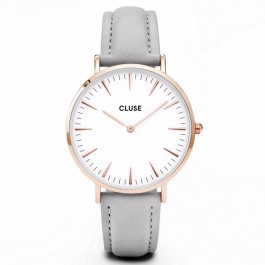 CL18015 Cluse La Bohème Rose Gold White/Grey Ladies Watch