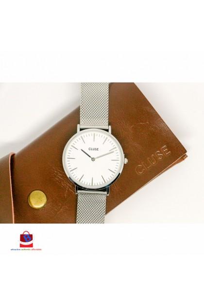 CL18105 Cluse La Bohème Mesh Silver/White Ladies Watch