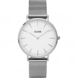 CL18105 Cluse La Bohème Mesh Silver/White Ladies Watch