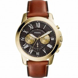 Fossil FS5297 Grant Chronograph Light Brown Leather Watch