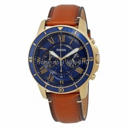 FOSSIL FS5268 Grant Sport Chronograph Luggage Leather Watch
