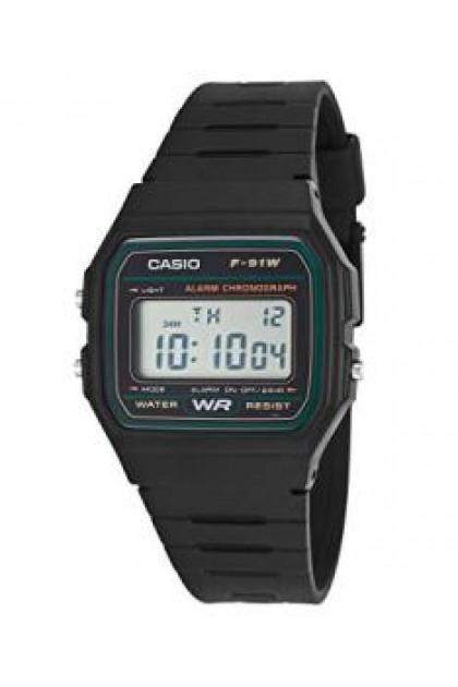 CASIO F-91W / F-94WA / F-91WM / F-91WG Men's Watch Black