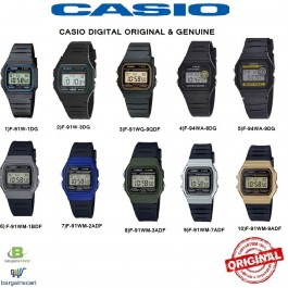CASIO F-91W / F-91WM / F-94WA Series Original & Genuine Watch