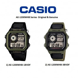 Casio AE-1200WHB-3BVDF/1BVDF Original & Genuine Watch