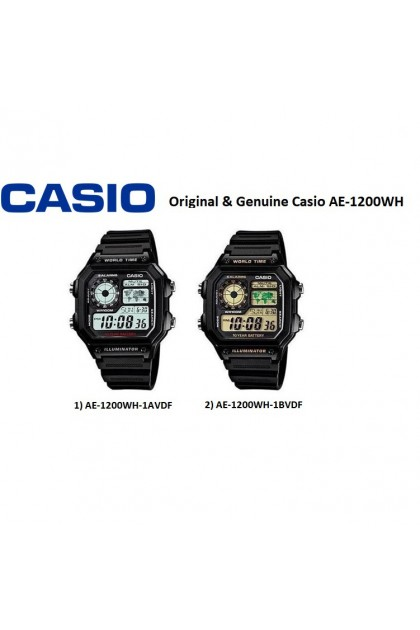 Casio AE-1200WH-1BVDF/AE-1200WH-1AVDF Original & Genuine Watch