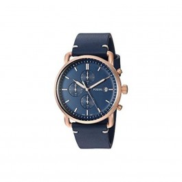 FOSSIL FS5404 Commuter Chronograph Navy Leather Watch