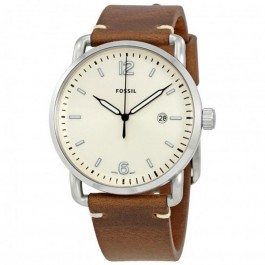 FOSSIL FS5275 The Commuter Three-Hand Date Brown Leather Men's Watch
