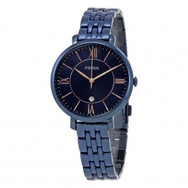 FOSSIL ES4094 Jacqueline Three-Hand Date Blue Stainless Steel Ladies Watch
