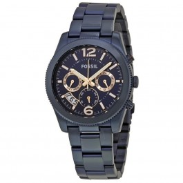 Fossil ES4093 Perfect Boyfriend Multifunction Blue Stainless Steel Ladies Watch