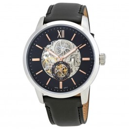 FOSSIL ME3153 Townsman Skeleton Dial Automatic Men's Leather Watch