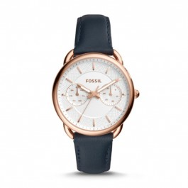FOSSIL ES4260 Tailor Multifunction Navy Leather Ladies Watch