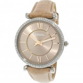 Fossil ES4343 Carlie Three-Hand Sand Leather Watch