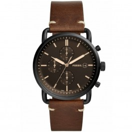 Fossil FS5403 The Commuter Chronograph Brown Leather Watch