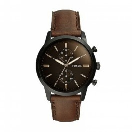 Fossil FS5437 Townsman 44MM Chronograph Brown Leather Watch