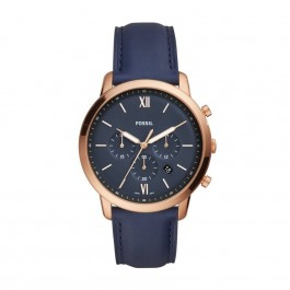 Fossil FS5454 Neutra Chronograph Navy Leather Watch