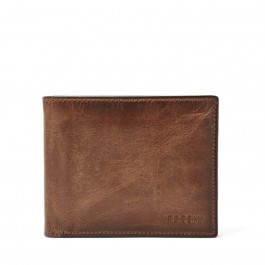 Fossil Men's RFID Derrick Passcase Wallet Brown ML3771200