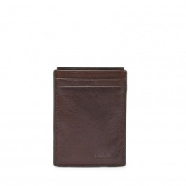 Fossil Neel Magnetic Card Case Brown ML3691200