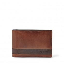 Fossil Men's Quinn Money Clip Bifold Wallet Brown ML3650200
