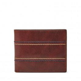 Fossil Reese Rfid Flip Id Bifold Wallet Brown ML3980200