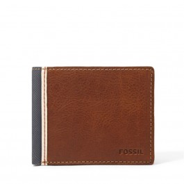 Fossil Original Elgin Traveler Leather Men's Wallet Brown ML3309200