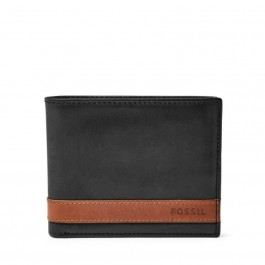 Fossil Men's Quinn Bifold with Flip Id Black ML3644001