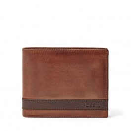 Fossil Men's Quinn Flip ID Bifold Wallet Brown ML3644200