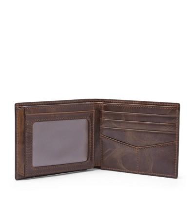 Fossil Men's Rfid Flip ID Bifold Wallet- Dark Brown ML3681201