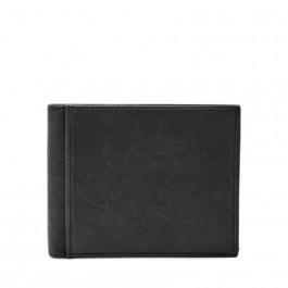 Fossil Mens Ingram RFID Bifold Flip ID Black Wallet Ml3784001