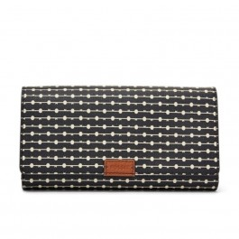 Fossil Emma RFID Flap Clutch Black & Cream SL7201080