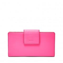 Fossil Emma Rfid Tab Clutch Wallet Neon Pink SL7154673