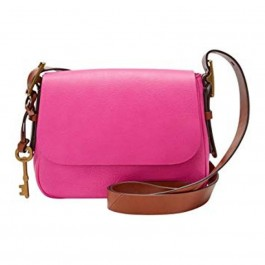 Fossil Women's Harper Small Saddle Crossbody Hot Pink ZB7212694
