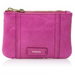 Fossil Emma Zip Hot Pink Leather Coin Wallet SL7102694